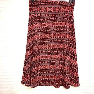 LuLaRoe Flourish Azure A Line Skirt